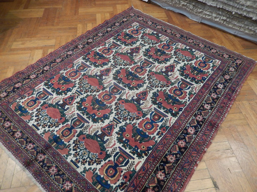 6x7 Antique Persian Afshar Bakhtiar Rug Ebay