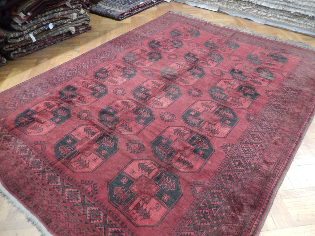 8x11 Afghan Semi Antique Turkoman Bokhara Rug Large