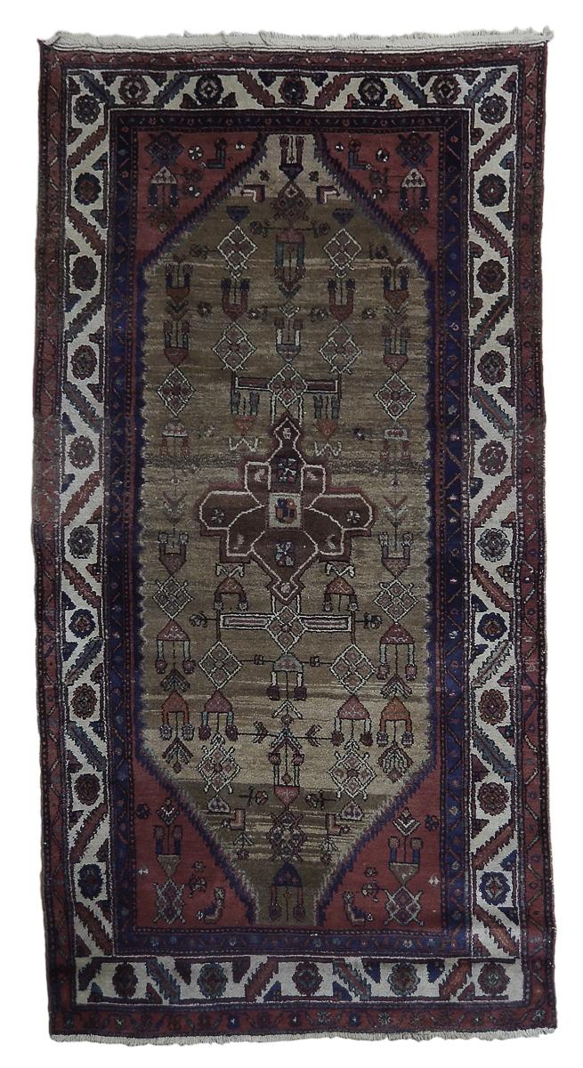 Details About Tribal Vegetable Dyed Hamadan Persian Wool Handmade Rug 4 X 7 Runner Brown