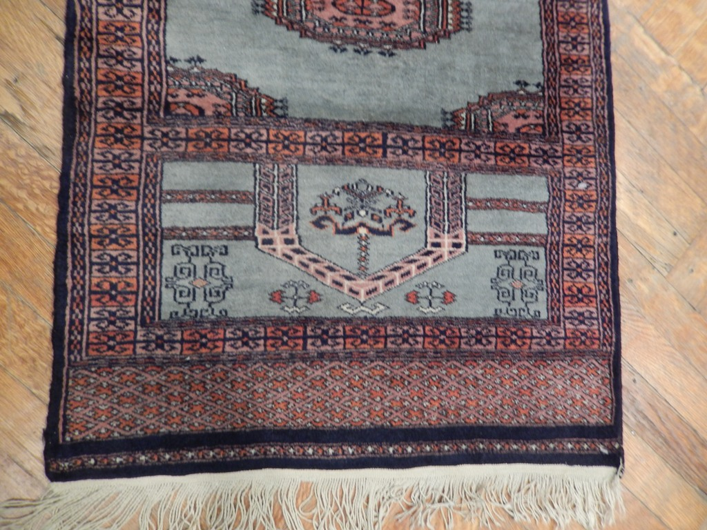 Persian Iran Rug Runner Woven Wool Antique 3 X 10 Blue 4 9 2 Ebay