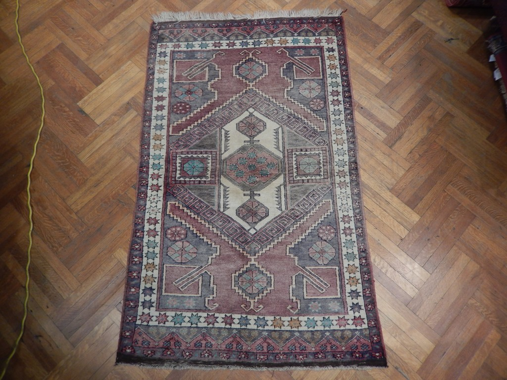 Russian Rug Bold Patterns Rectangular Handmade Rug 4x7