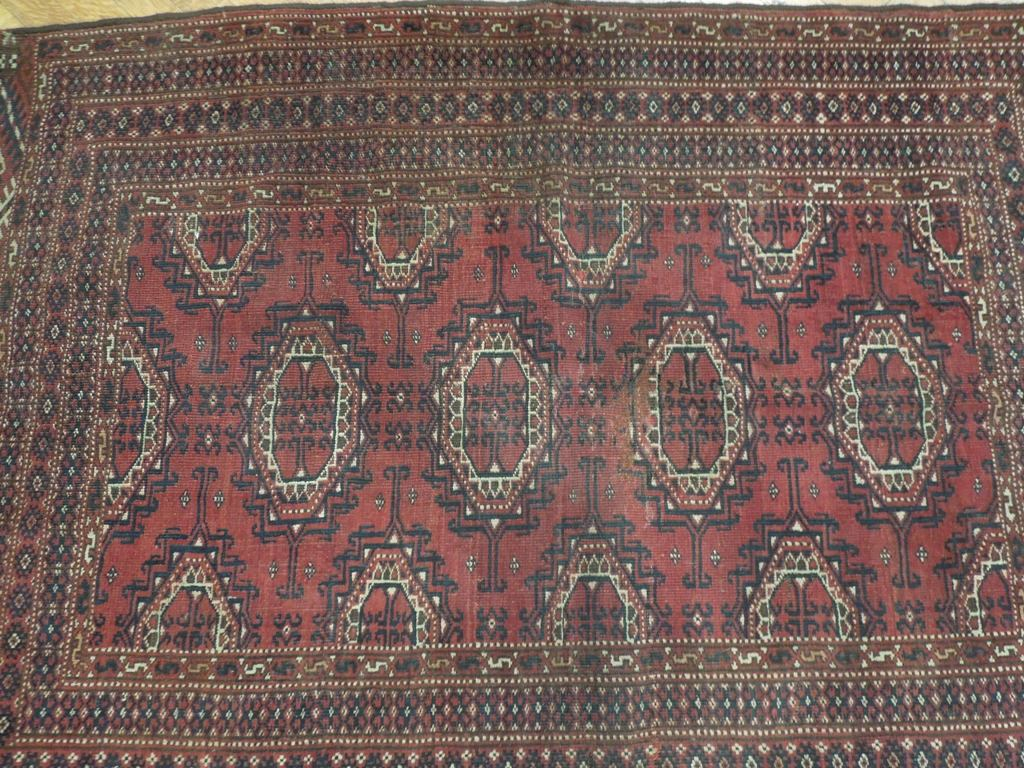 Askhabad Collection Hand Knotted Semi Antique Bokhara Rug