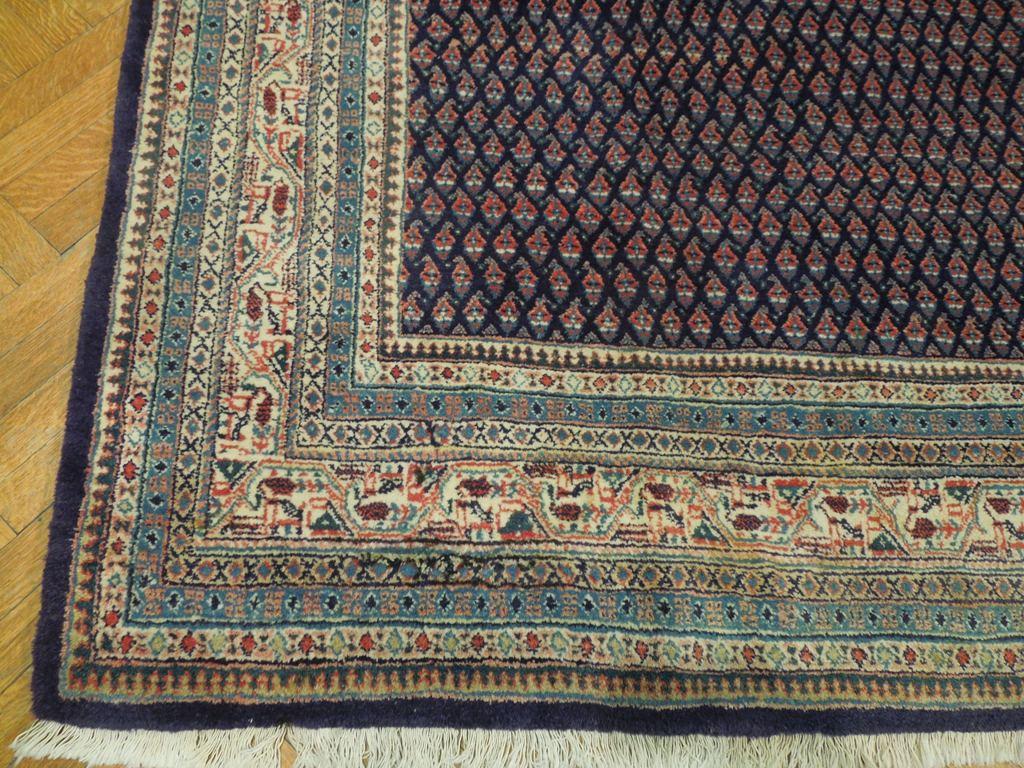 9 Squarish Semi Antique Persian Mir Rug Handmade Boteh