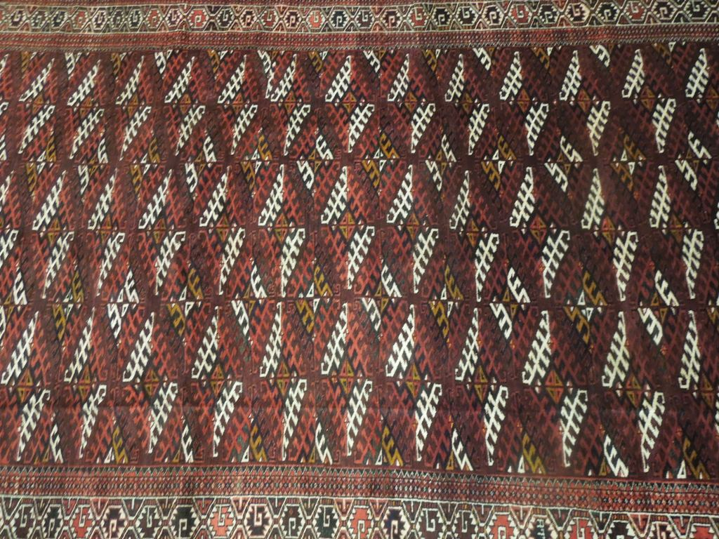 Semi Antique Rug 7x12 Tribal Turkman Bokhara Pre Owned