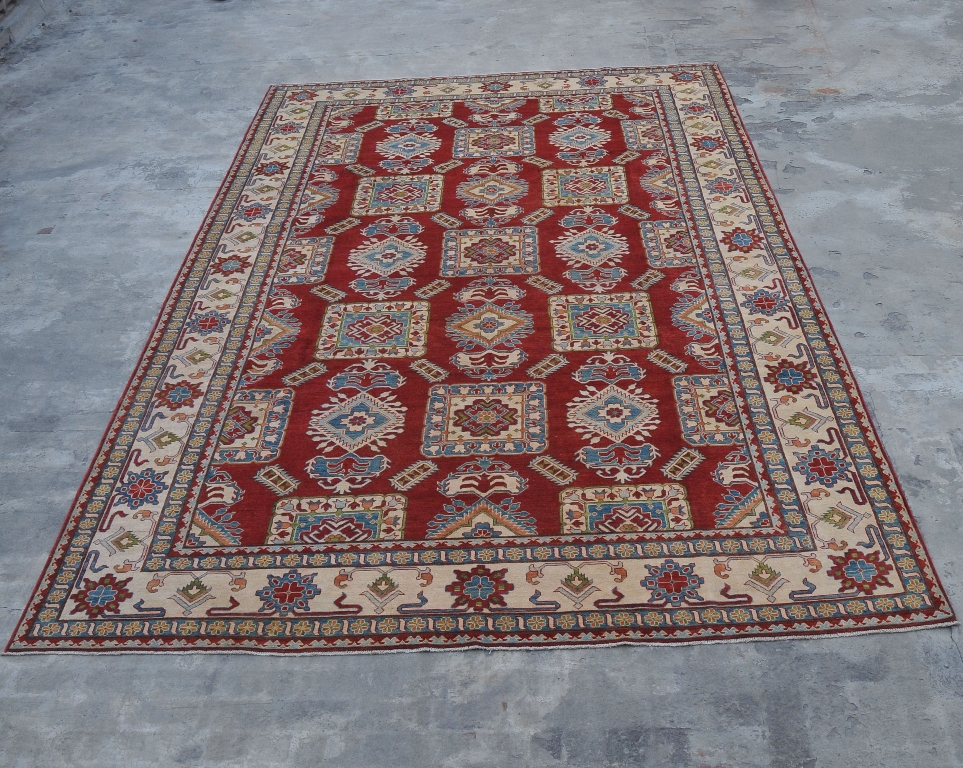 10x16 Wool Kazak Rugs New Antique Replica Handmade 10 X