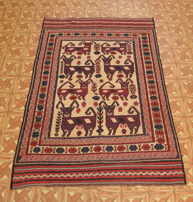Kilim-Sumak 5' X 8' Tribal Genuine Flat Woven Area Rug