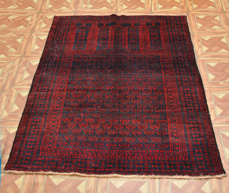 New Brand Devlin Persian Rug Handmade 100 Wool Area Rugs: Baluch Ethnic Decor 3' X 4' Wool On Wool Handmade