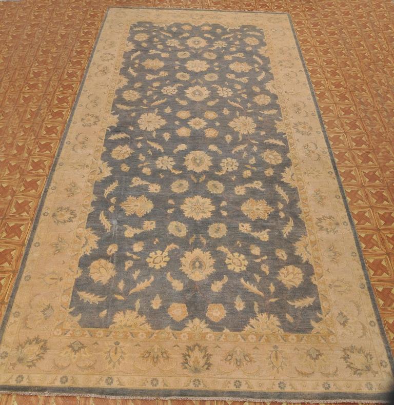Exrtemly Good Quality 9 X 18 Slate Blue Chobi Handmade