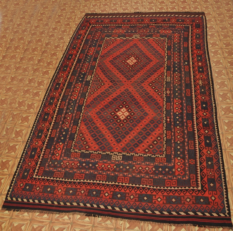 Flat Woven Rectangular Decor Rug 9' X 14' Handmade Tribal