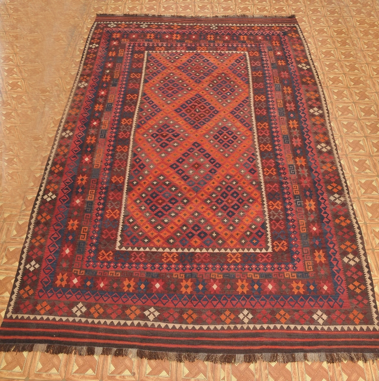 Oriental Wool On Wool 9' X 14' Organic Materials Ethnic