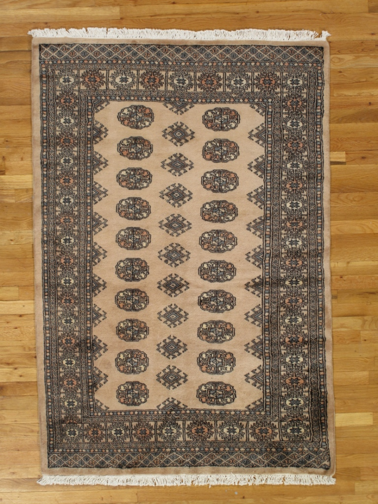 Bokhara Rug 4 X 6 Salmon Red All Over