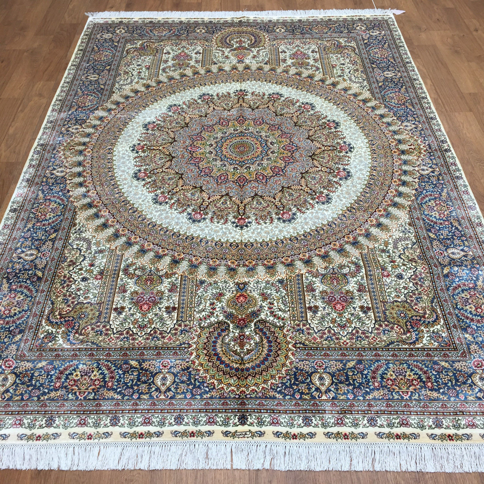 6 39 x 8 39 chinese silk rug handmade silk rugs for bedrooms attractive oriental rug ebay. Black Bedroom Furniture Sets. Home Design Ideas