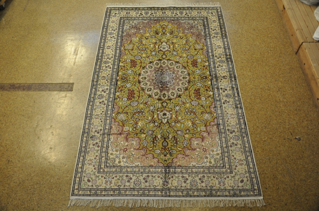 Green Rugs For Sale.Details About Silk Tabriz Green Rugs Sale Hand Knotted Rug 5 X 8 Rugs For Sale