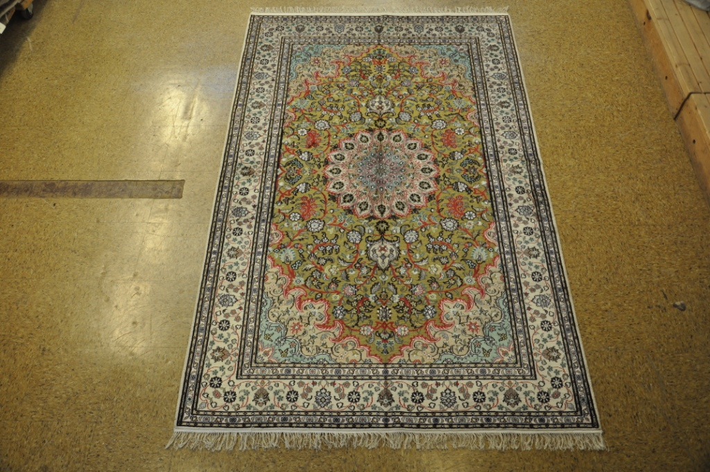 Rugs For Sale On Ebay.Details About Silk Tabriz Green New Handmade Rug 5 X 8 Rugs On Sale
