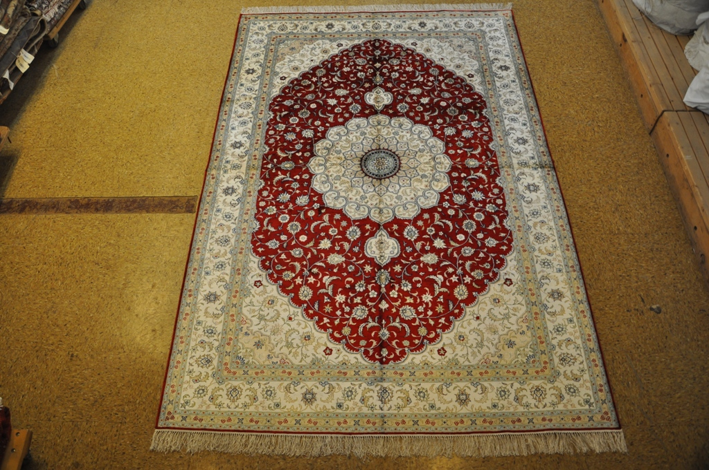 Image Is Loading Persian Design Silk Carpet 6x9 Isfahan