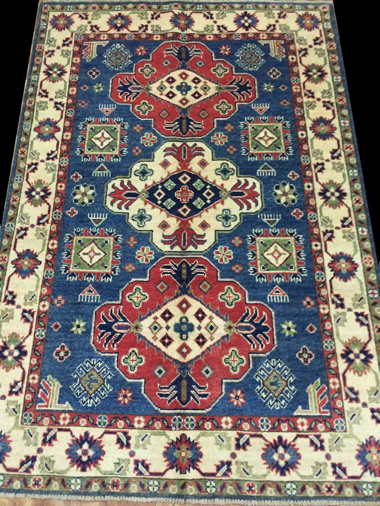 4 X 6 Kazak Luxurious Quality Wool Rugs For Kitchen Hand