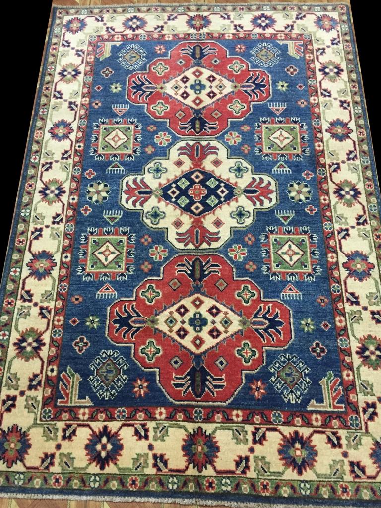 4 X 6 Kazak Luxurious Quality Wool Rugs For Kitchen Hand