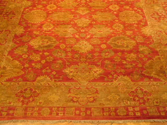 12x15 peshawar oushak coral red new wool rug ebay for 12x15 calculator