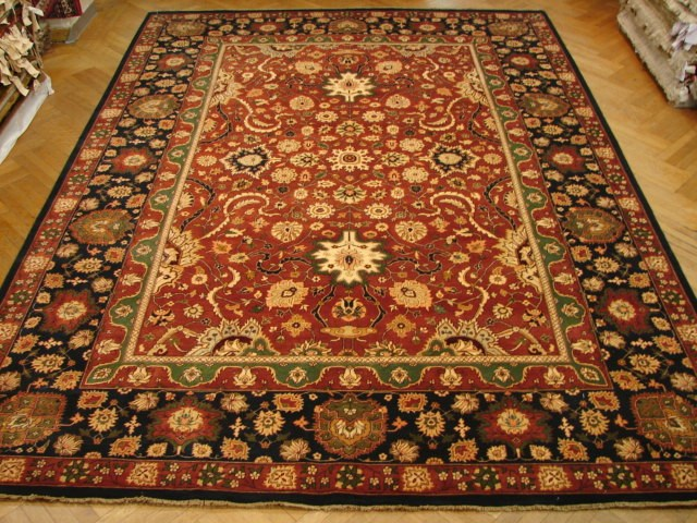 10x14 jaipur oriental rug fine thick wool pile for Thick area rugs sale