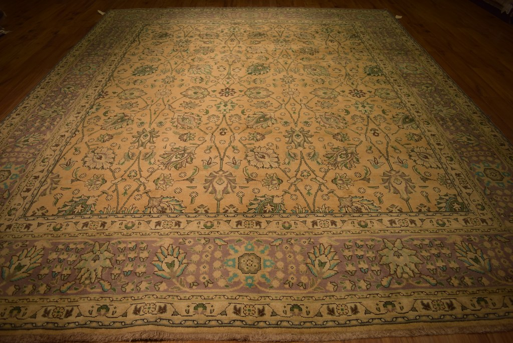 Antique Gold Authentic Persian Rugs For Sale Hand Knotted
