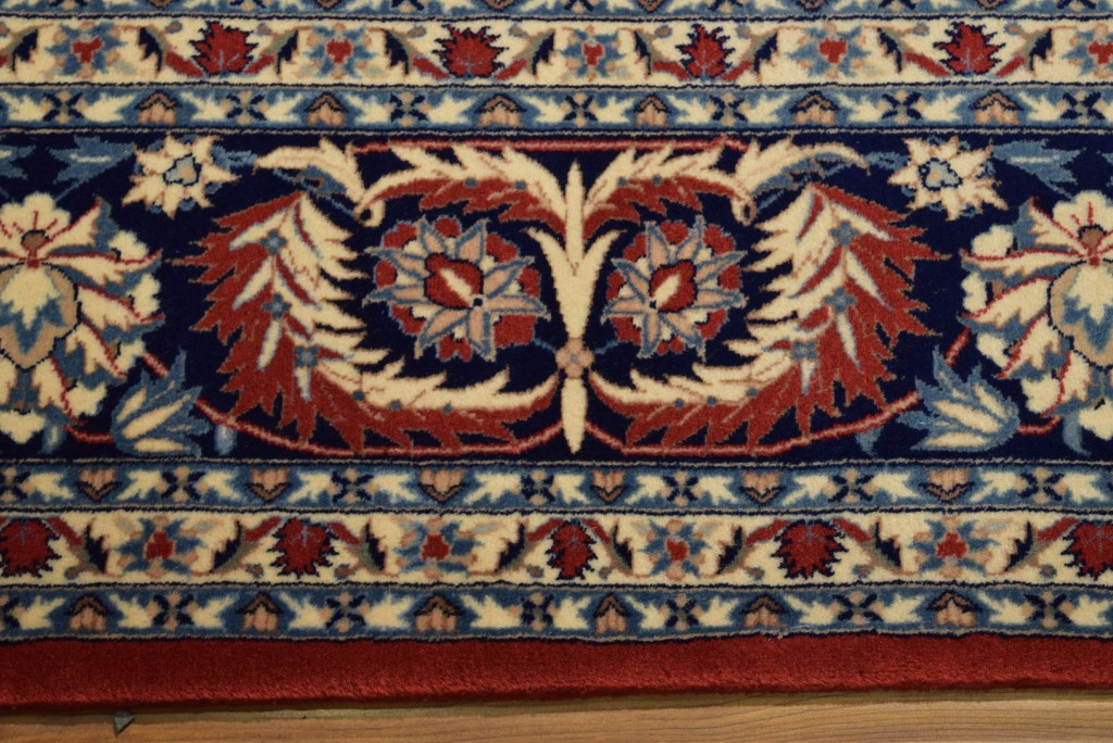 Vivid Red Hand Knotted Isfahan 8 X 10 Area Rug High End
