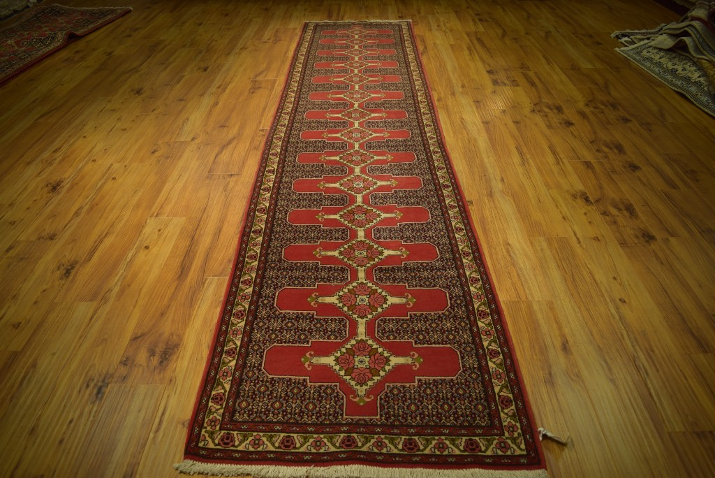 handmade hallway 3 39 x 13 39 persian runner rug red fine quality carpet ebay. Black Bedroom Furniture Sets. Home Design Ideas