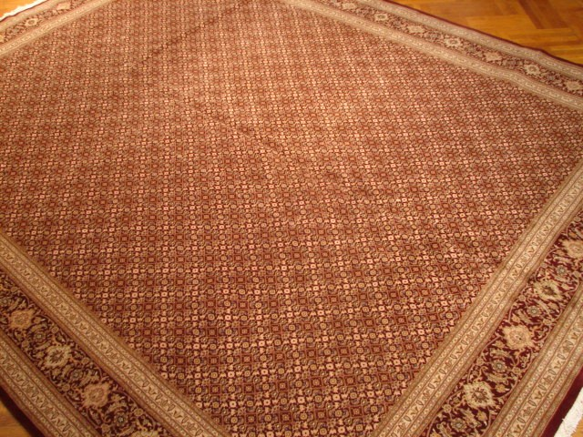 Fine Silk Amp Wool 12x15 Sino Tabriz Mahi Rug New Handmade Ebay
