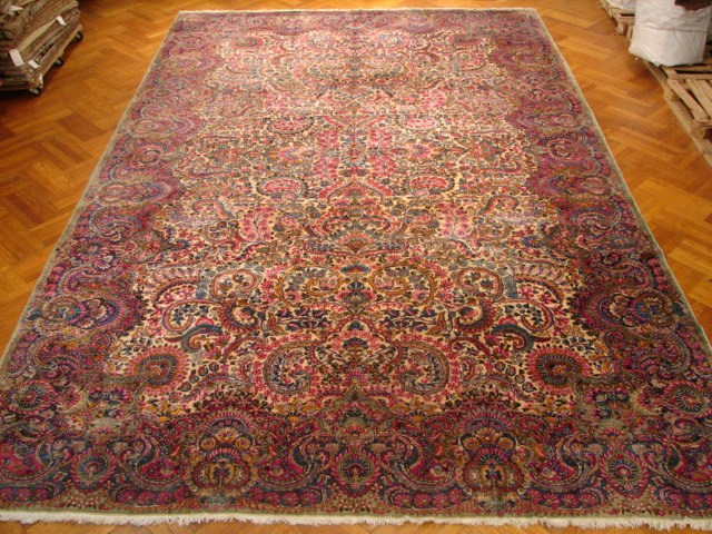 Image Is Loading 11x17 Antique Persian Lavar Kerman Rug