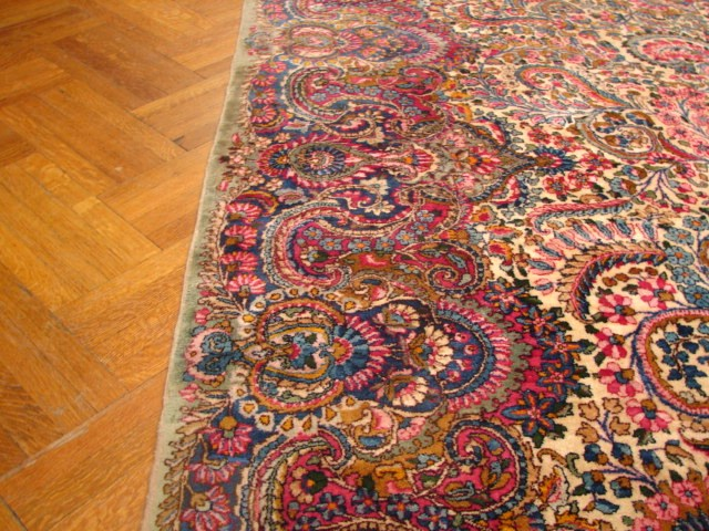 11x17 Antique Persian Lavar Kerman Rug