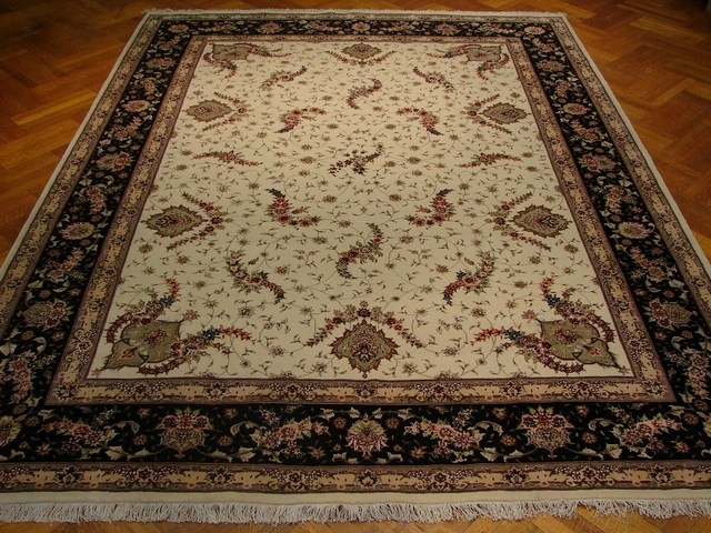 9x12 Silk Amp Wool Sino Tabriz Rug Free Shipping Ebay