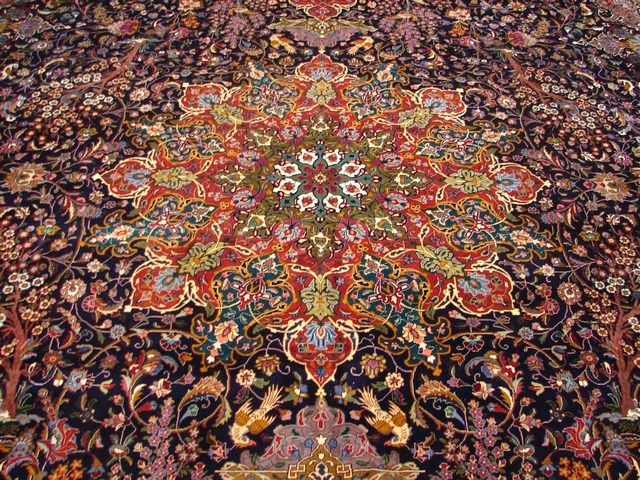 AUTHENTIC Super Fine 13x20 Persian Tabriz Rug IRAN