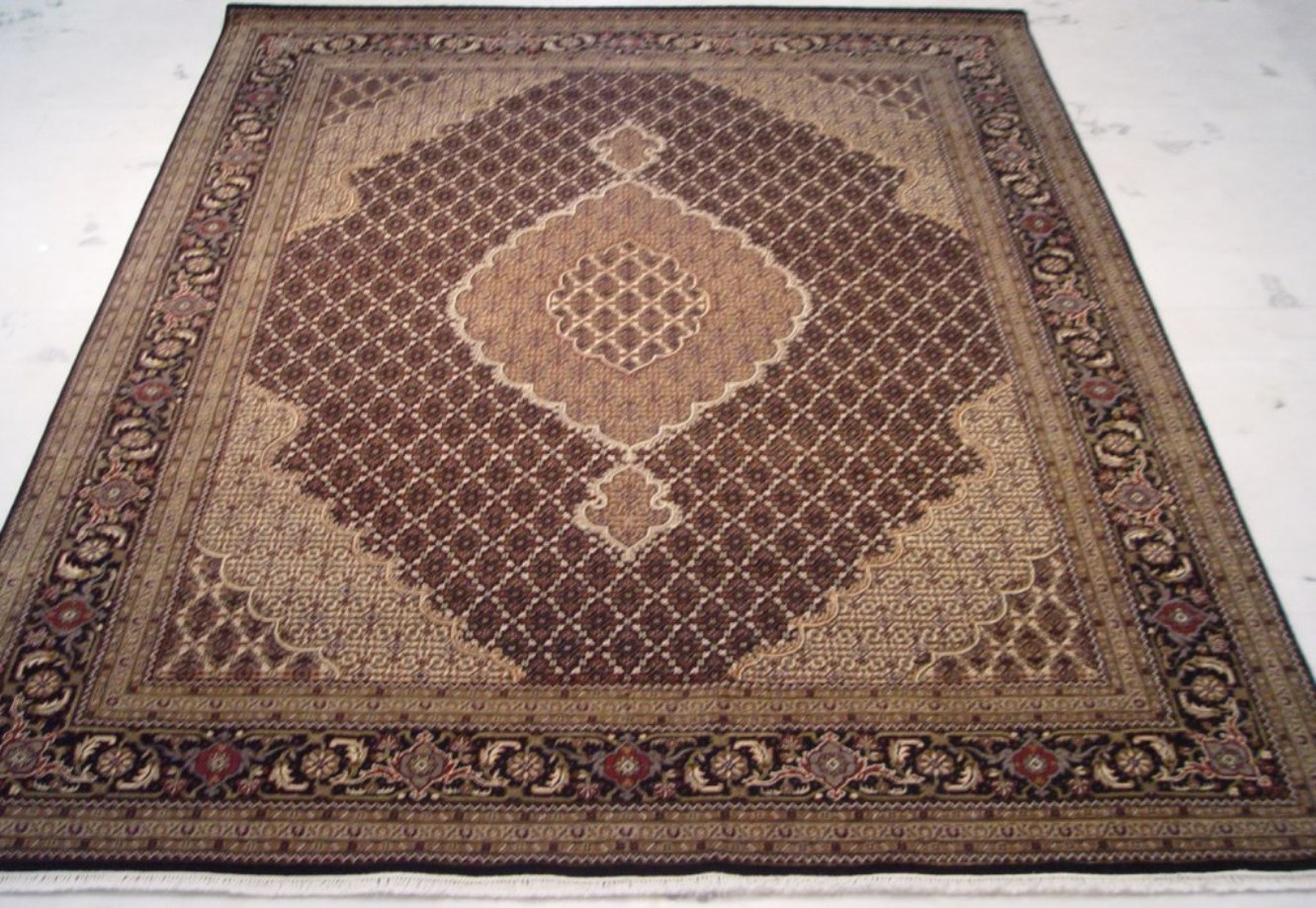 8x10 Hand Woven Rug Traditional Design Wool Amp Silk Tabriz