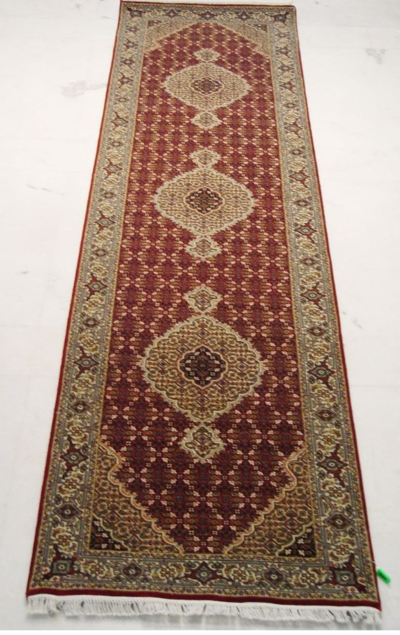 2 39 6 39 39 x 10 39 home decor runner wool silk tabriz for Home decorators rug runners