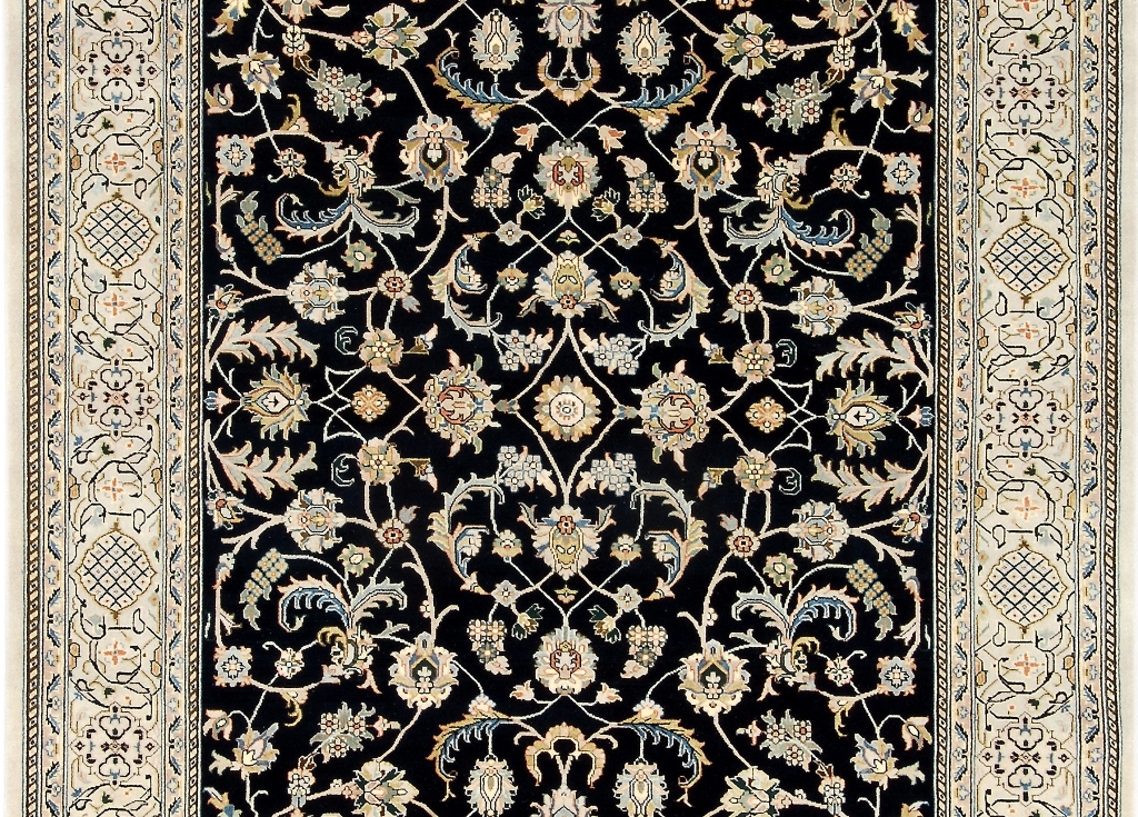 Voguish 10x6 Hand Knotted Wool Pile Nain Area Rug Handmade