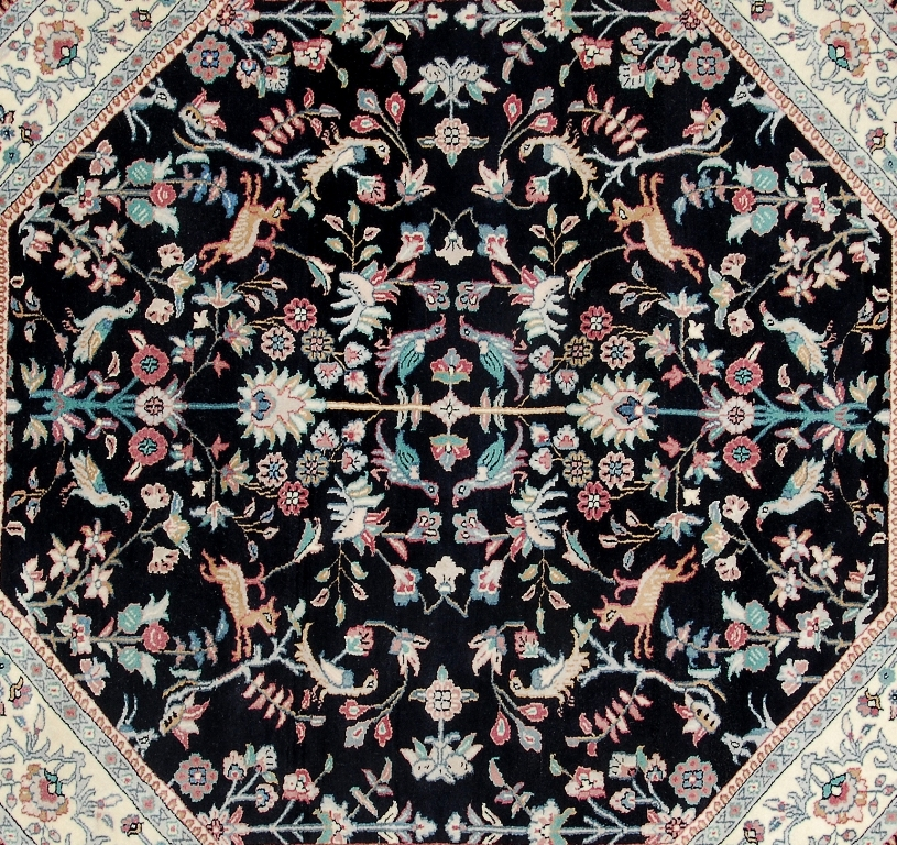 Fascinating 7x7 Woven By Hand Hunting Area Rug Exrtemly