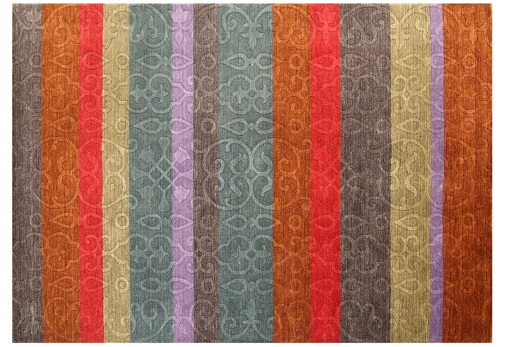 Multi color 5 39 x 8 39 modern area rug extremely durable rugs for Contemporary area rugs on sale