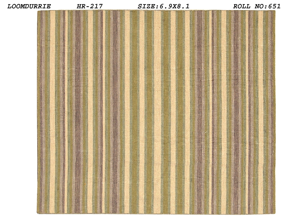 Elegant Flat Weave Area Rug 7x8 Striped Sumak Contemporary