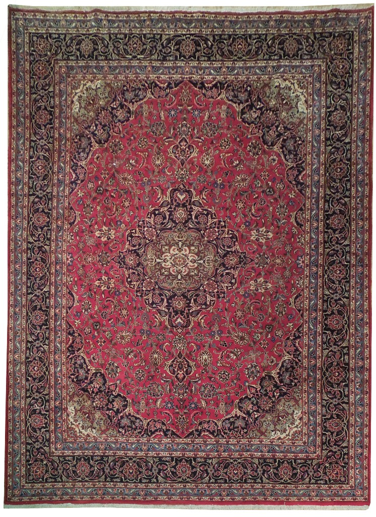 10 X 13 Hand Knotted Kashan Classic Persian Magnificent
