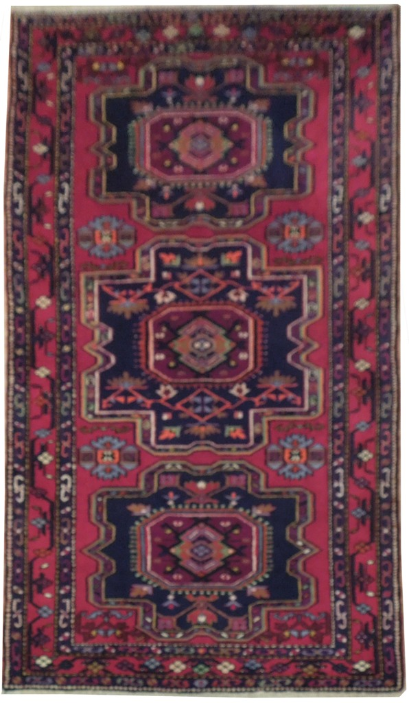 Burgundy Handmade Kazak Georgian Weavers 4 X 7