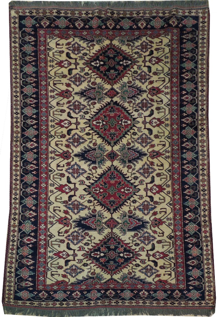 Antique Replica Pak Hand Woven 6x7 Rug Fine Hand Spun Wool
