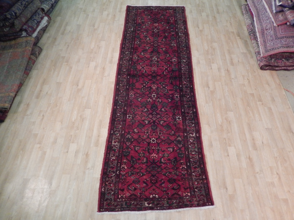 Persian Runner Oriental Hand Woven Rug 4x12 Semi Antique