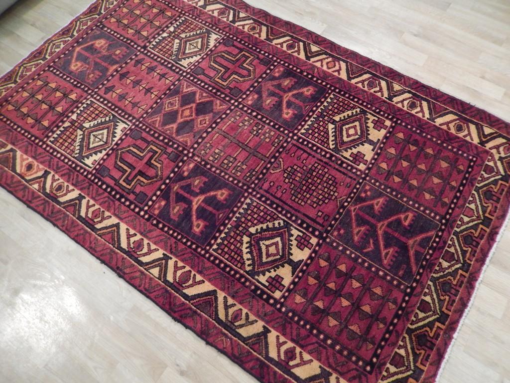 hand woven rug checked persian bakhtiari 5x7 semi antique rug hamadan rug ebay. Black Bedroom Furniture Sets. Home Design Ideas