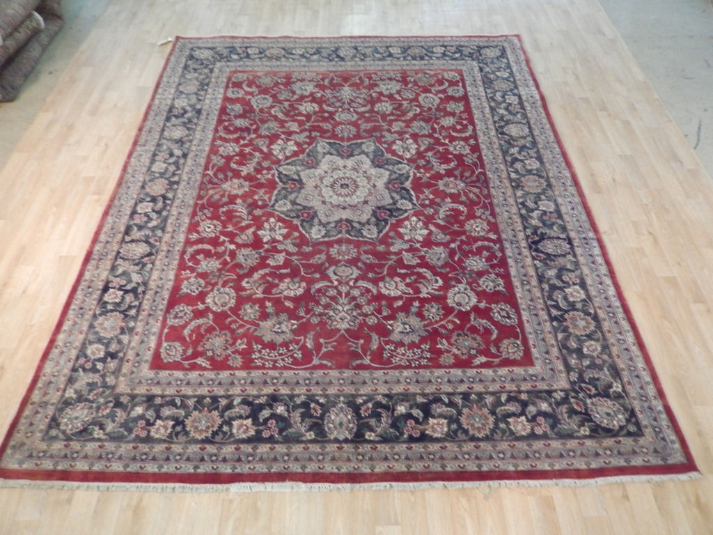 Tabriz room decor hand woven 8 39 x 10 39 semi antique persian for Decor international handwoven rugs