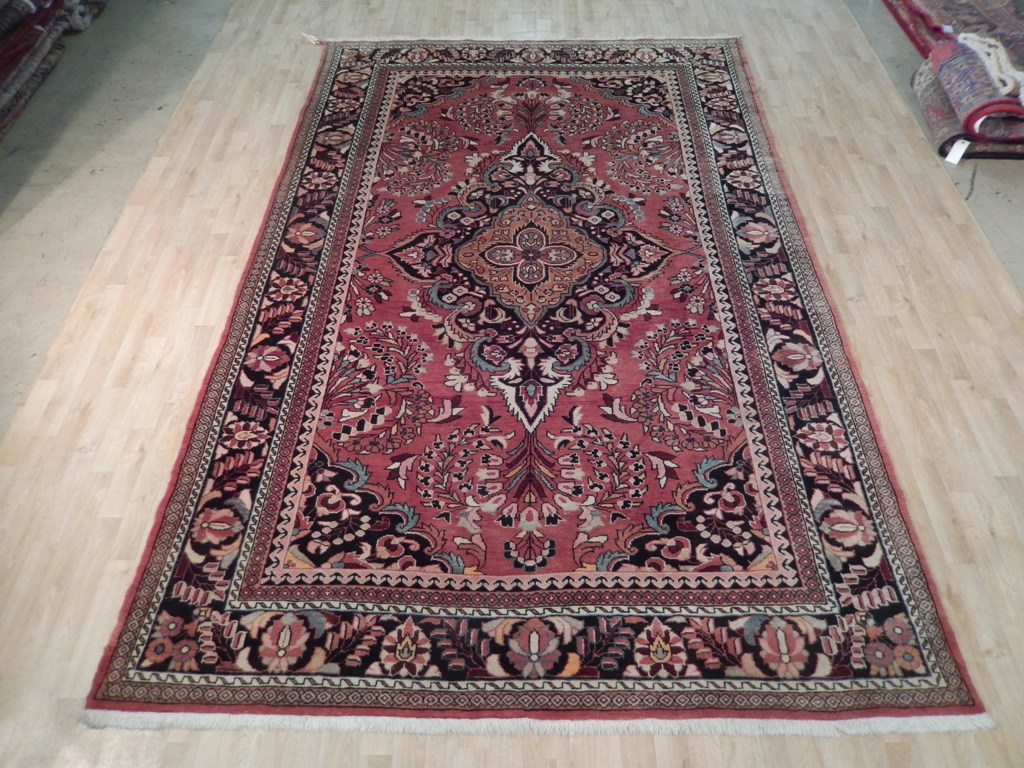 Salmon Red Iranian Rich Collection Persian Handmade 8 X