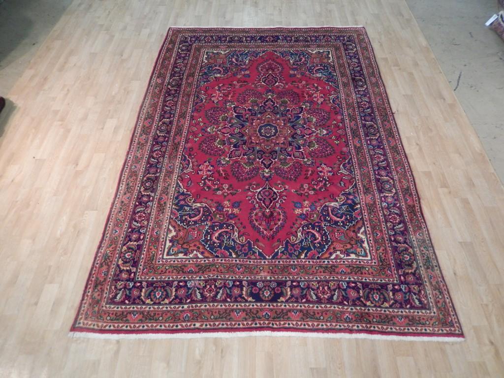 Red Oriental 7x10 Rug Handmade Persian Traditional Sarouk