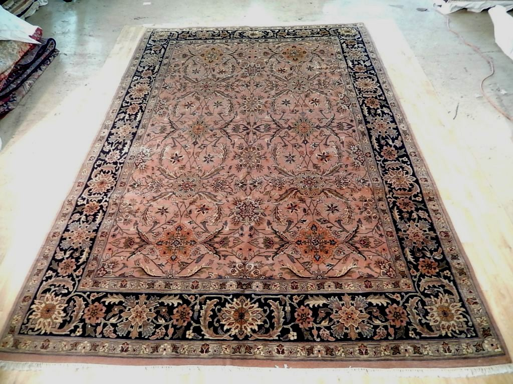 peach handmade rug 10x15 jaipur organic wool new indian oriental traditional rug ebay. Black Bedroom Furniture Sets. Home Design Ideas