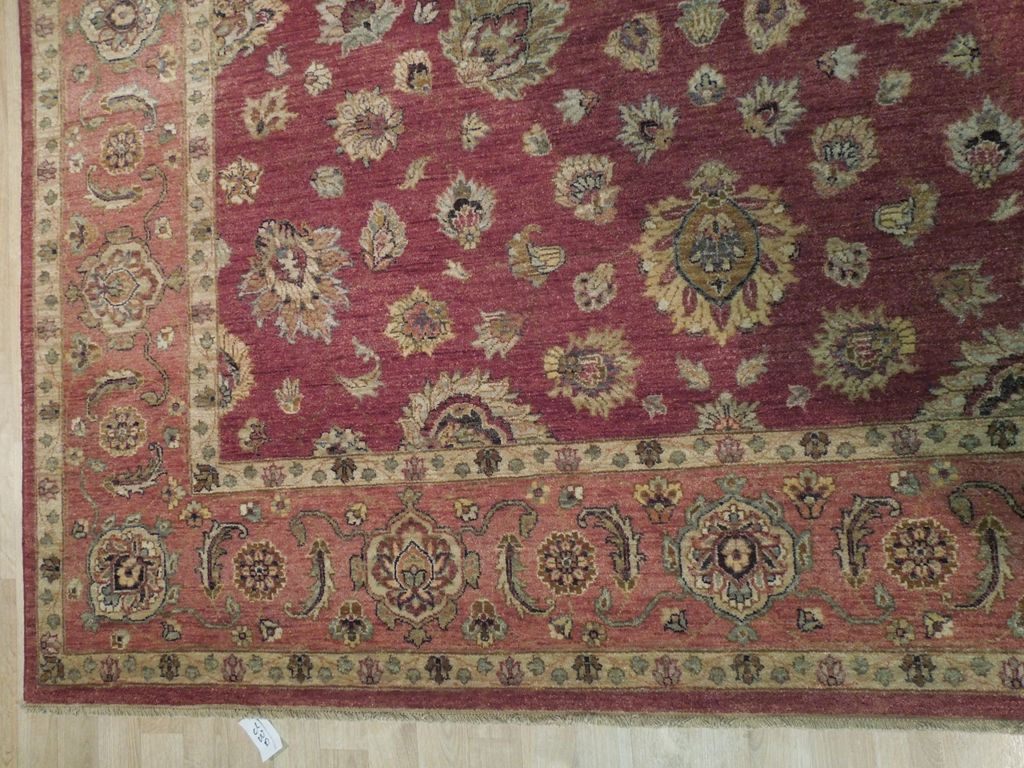 New Indian 8x10 Wine Red Rust Chobi Rug Persian Antique