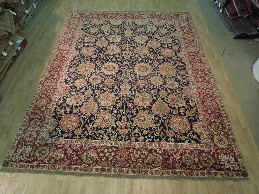 high quality weave new hand knotted 9 39 x 12 39 jaipur area rug persian mahal decor ebay. Black Bedroom Furniture Sets. Home Design Ideas