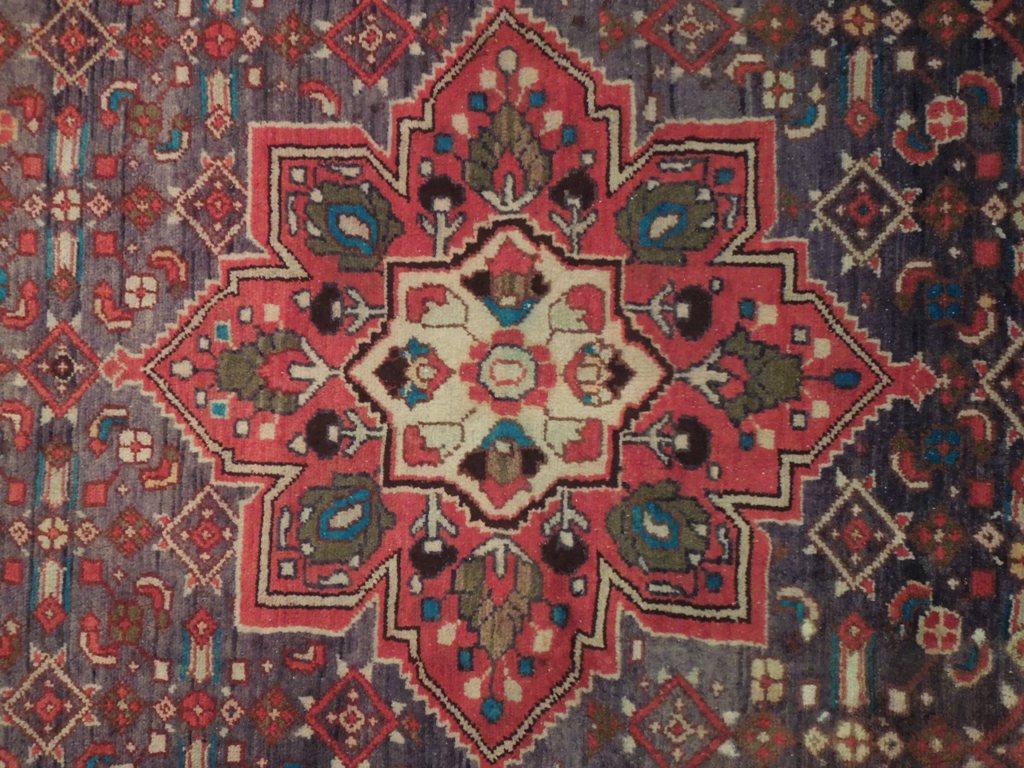 Slate Blue Green Handmade 7x10 Carpet Kurdish Refugee