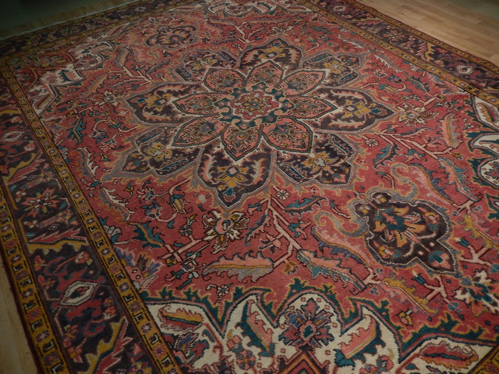 Rust Red 10x12 Area Rug Hand Knotted Persian Heriz